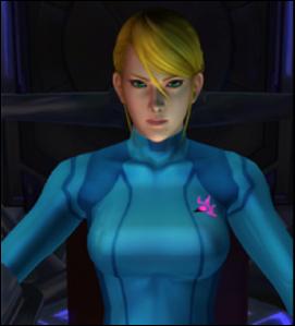 Samus in her Zero Suit.