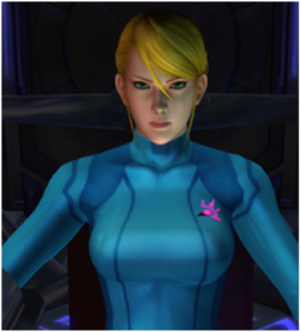 Samus in her Zero Suit.